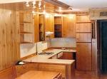 Изработка на кухненски мебели от чам по индивидуален проект